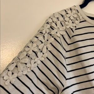 Gently love stripped sweat shirt with applique